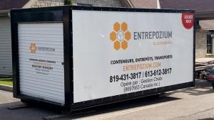 Entrepozium & conteneurs – Entrepôts mobiles, conteneurs à rebuts, conteneurs à déchets, remisage intérieur, remisage extérieur, transport léger, déménagements, entrepôts temporaires – Gatineau, Outaouais